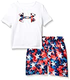 Under Armour Boys' Little UA Volley Set, White-S19, 4