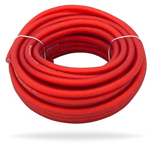 InstallGear 10 Gauge Red 25ft Power/Ground Wire True Spec and Soft Touch - 10 Wire Power Gauge