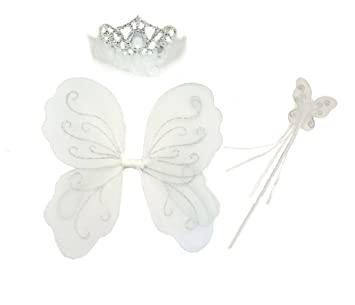 Xmas Fancy Dress Girls Silver//White Fairy Deeley Bopper headband Birthday Party