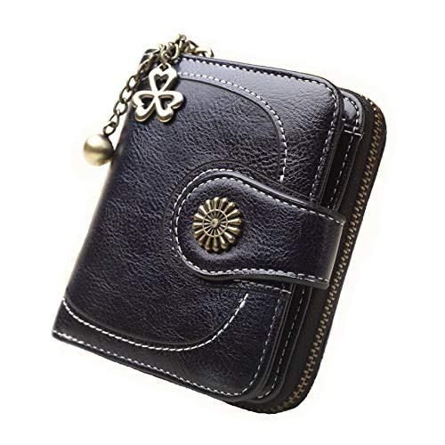 Coin purse clutch bag retro coin bag card package black ()