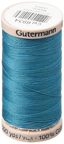 Gutermann Cotton Quilting Thread, 200m/219 yd, Turquoise