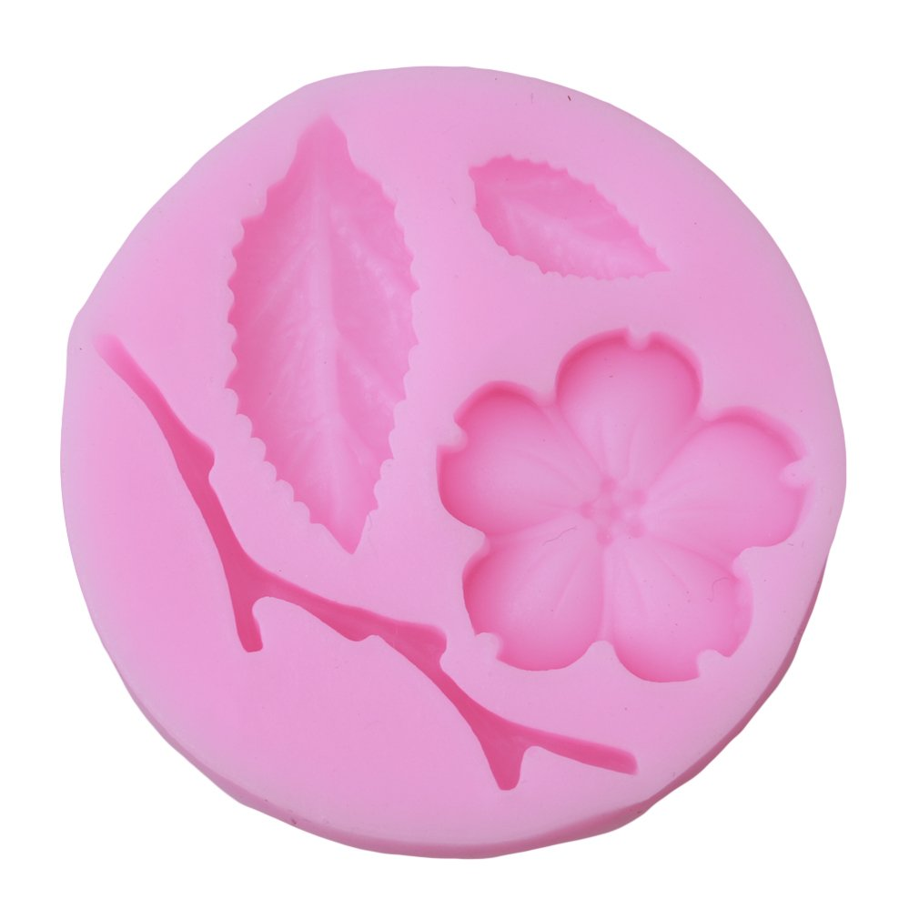 Rurah Flower And Branch Leaf Shaped Mould For Fondant Cake Decorating Chocolate Baking Mold Silicone