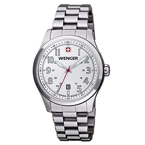 Wenger 01.0541.107 - Men's Watch, Stainless Steel, Silver Color