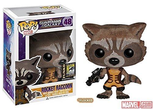SDCC 2014 Funko Pop Guardians of The Galaxy #48 Rocket Raccoon (Flocked) by Funko