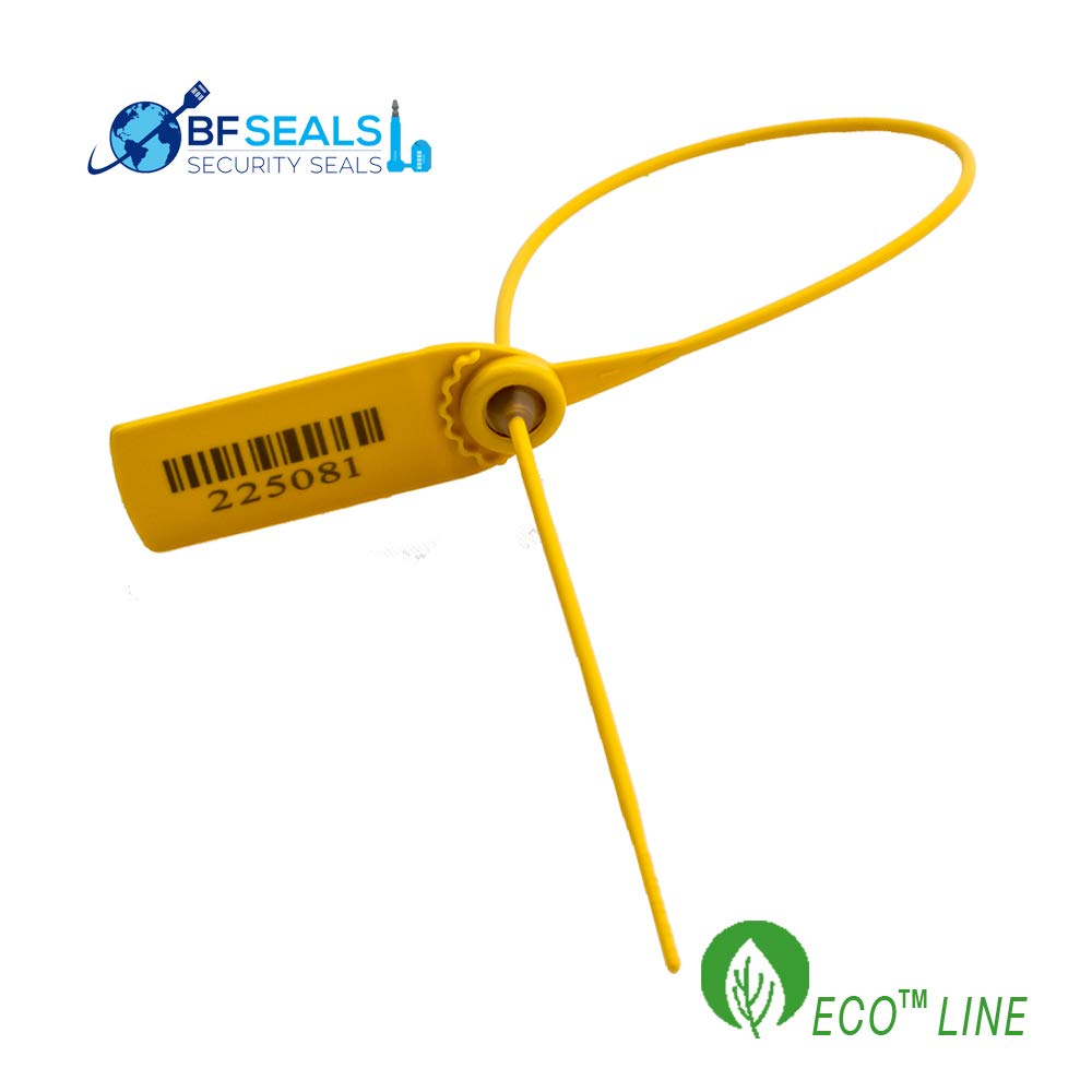 Pull-Tight Eco-Plastic Security Seal, 5000 pcs, Correlative Numbered, Yellow Color, 15''