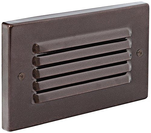 Horizontal Indoor/Outdoor Bronze Louvered LED Step Light