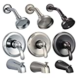 FREUER Ristorare Collection: Showerhead, Valve & Tub Spout, Brushed Nickel