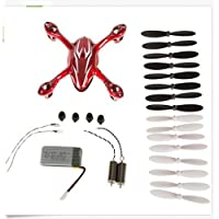 Hubsan X4 H107C Quadcopter Red/White Crash Pack with RC Parts Accessories Spare Blade