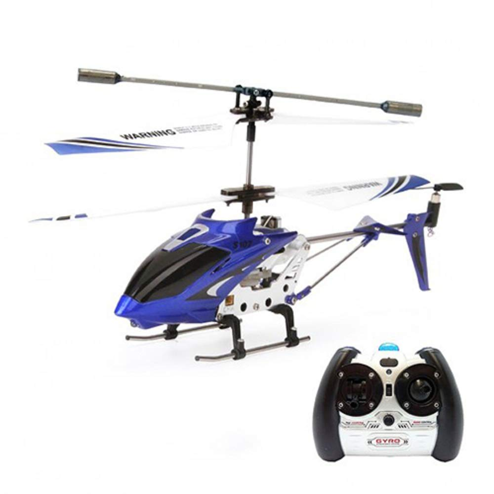 Syma S107G 3 Channel RC Radio Mini Alloy Remote Control Helicopter with Gyro for Kids and Beginners