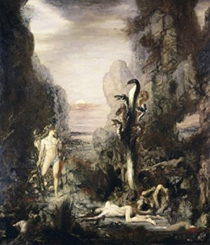 Posterazzi Hercules and The Hydra 1867 Gustave Moreau (1826-1898 French) Oil on Canvas Art Institute of Chicago Illinois USA Poster Print, (24 x 36)
