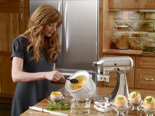 Acoplador para la máquina de helados KitchenAid KICA0WH - Excluye 7, 8 y la mayoría de los modelos de 6 cuartos