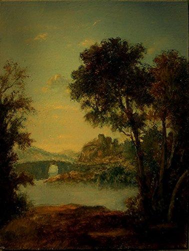 Miniature Landscape Painting, Original Oil Painting, ACEO Painting ()
