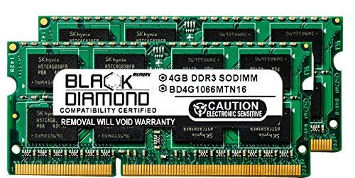 8GB 2X4GB Memory RAM for HP Pavilion Notebooks Dv6-1361sb Entertainment 204pin 1066MHz PC3-8500 DDR3 SO-DIMM Black Diamond Memory Module Upgrade