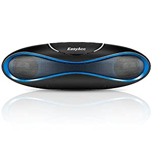 EasyAcc 2nd Gen Olive Bluetooth Speaker with Built-in microphone -Support USB Flash & micro SD Card Playing, Mini Outdoor Sports Portable Wireless Speaker for Samsung, iPhone,iPad, Nokia, HTC,Tablets PC,Notebook [ FM function,color:Blue ]