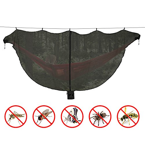 Lhedon Hammock Mosquito Net by, Advanced Portable Lightweight Hammock Bug Net for 360°Mosquitos Protection,Universal Fit All Single Double Camping Hammocks(Light (Polyester Net Hammock Swing)