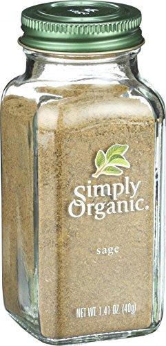 Simply Organic Ground Sage (Simply Organic Sage Leaf - Organic - Ground - 1.41 oz)