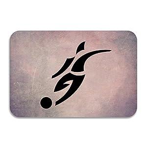 PTGIK David Beckham Logo Soccer Non-slip Doormat White
