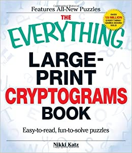 photograph relating to Free Printable Cryptograms With Answers identify The Nearly anything Heavy-Print Cryptograms Ebook: East-in direction of-go through
