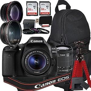 Best Epic Trends 51Yvsm9yf9L._SS300_ Canon EOS 80D Digital SLR Camera with EF-S 18-55mm is STM Kit + Accessory Bundle