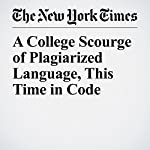 A College Scourge of Plagiarized Language, This Time in Code | Jess Bidgood,Jeremy B. Merrill