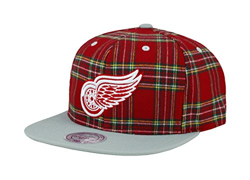 Detroit Ness Red Wings - Mitchell & Ness NHL HAT Detroit RED Wings Plaid Snapback CAP