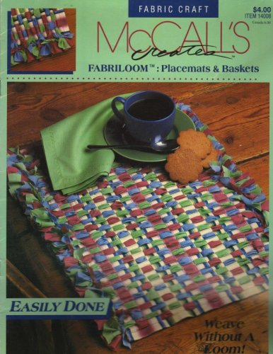 McCalls Creates Fabriloom: Placemats and Baskets - #14008 - Weaving Projects