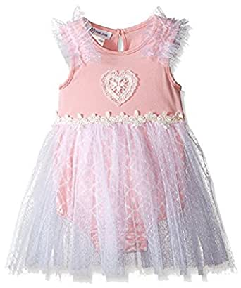 Amazon.com: Bonnie Jean Baby Pink Heart Lace Tulle Dress