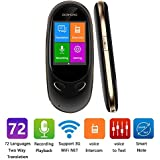 Smart Language Translator Device,72 Country langauge Two-Way Real time Translator Mini Portable WiFi&3G Touch Screen,Office Electronic,Two Way Instant Digital Recorder Intercom for Learning Travel