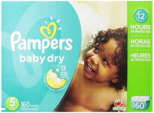 Pampers Baby Dry Diapers Size 5, 160 Count (Infant Box)