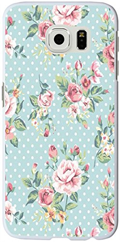 S6 Edge Case, Samsung Galaxy S6 Edge Case elegant green flowers floral