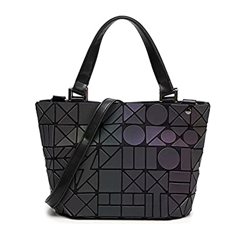 aedfb2231a Image Unavailable. Image not available for. Color  Women Shoulder Bag  Geometry Sequins Mirror Laser Plain ...