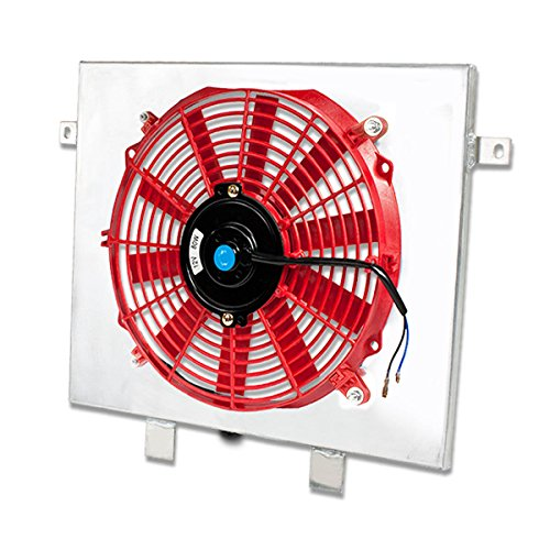 For BMW E30 3-Series M3 MT Aluminum Bolt-on Cooling Radiator Fan Shroud (Red)