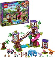 LEGO Friends Jungle Rescue Base 41424 Building Toy for Kids, Animal Rescue Kit That Includes a Jungle Tree Hou