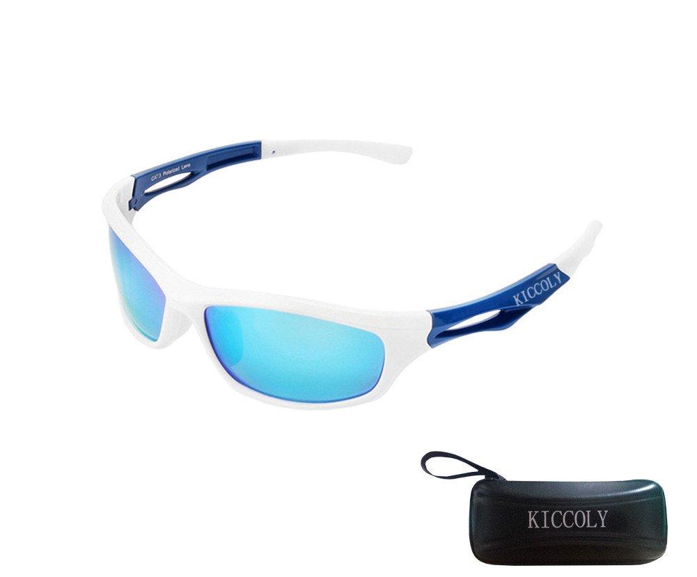 KICCOLY Gafas de Sol Deportivas Polarizadas para Hombre Esquiar Golf Correr Ciclismo TR8116 Súper Liviana para Hombre y para Mujer