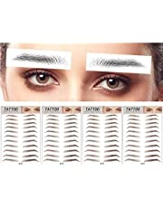 DAGEDA Brown 44 Pairs 4 PC 4D Eyebrow Transfers Stickers, Long Lasting Natural Waterproof Bionic Eyebrow Water Transfer Tattoo Eyebrow Sticker For Woman Man Makeup Tool(#JY12)