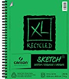 Canson XL Series Recycled Paper Sketch Pad, Side Wire Bound, 50 Pound, 9 x 12 Inch, 100 Sheets