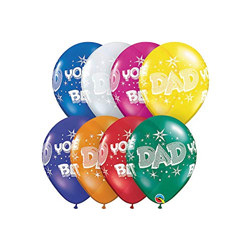 Fun Express - Dad You're The Best Balloon Assortment for Father's Day - Party Decor - Balloons - Mylar Balloons - Father's Day - 50 Pieces