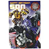 Transformers - Son Birthday Card With Badge