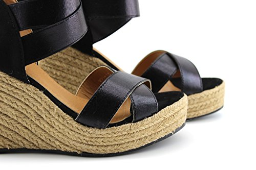 MODELISA Women's Fashion Sandals Black UrqvwX