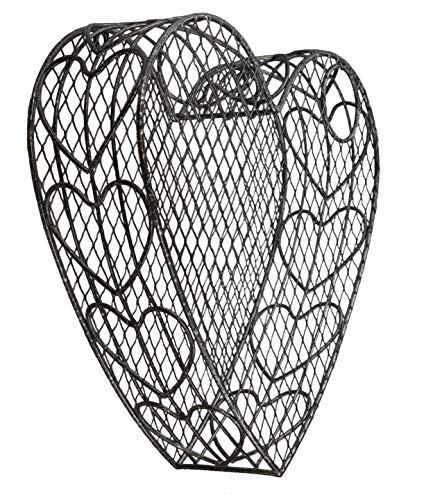 DeLeon Collections Metal Heart Shaped Wine Cork Holder - Wall Mount or Table Top Display