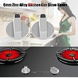 Fdit 4Pcs 6mm Zinc Alloy Home Kitchen Gas Stove