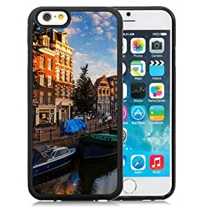 NEW Unique Custom Designed iPhone 6 4.7 Inch TPU Phone Case With Morning On Amsterdam Canals_Black Phone Case