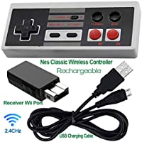 Rechargeable NES Classic Mini Wireless Controller -TURBO...