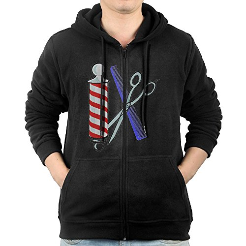 Men's Barber Tool Full-Zip Hoodie Sweatshirt Fleece Pullover Hooded Shirts Pocket - For My Right Face Sunglasses