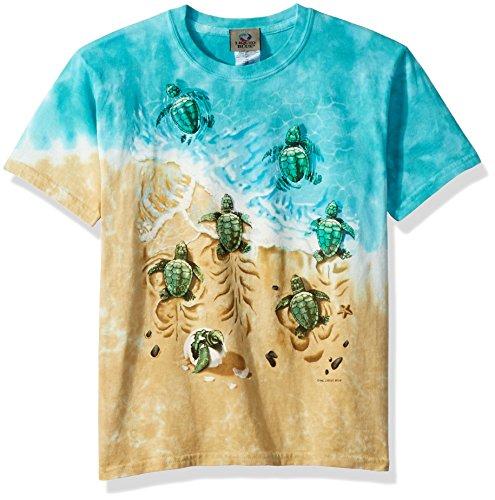 Liquid Blue Kids' Big Nature Aquatic Turtle Beach Short Sleeve T-Shirt, tie/dye, Large (Nature Tye Dye T-shirt)