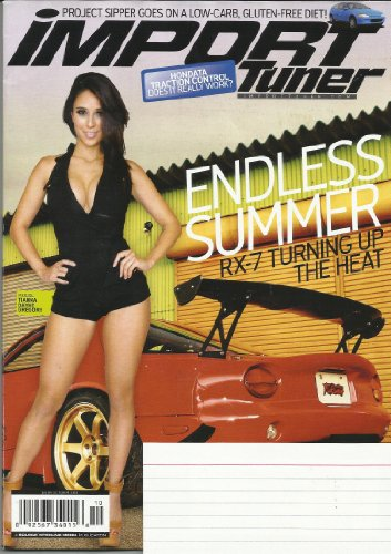 - IMPORT TUNER MAGAZINE OCTOBER 2013 VOL 16 NO 8 RX-7 TURNING UP THE HEAT! HONDATA TRACTION CONTROL - DOES IT REALLY WORK? PROJECT SIPPER GOES ON A LOW-CARB, GLUTEN-FREE DIET! FEATURING MODEL TIANNA DAYNE GREGORY!