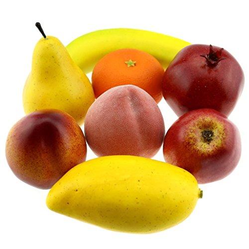Gresorth Fake Mixed Fruit Decoration Set of Orange Peach ...