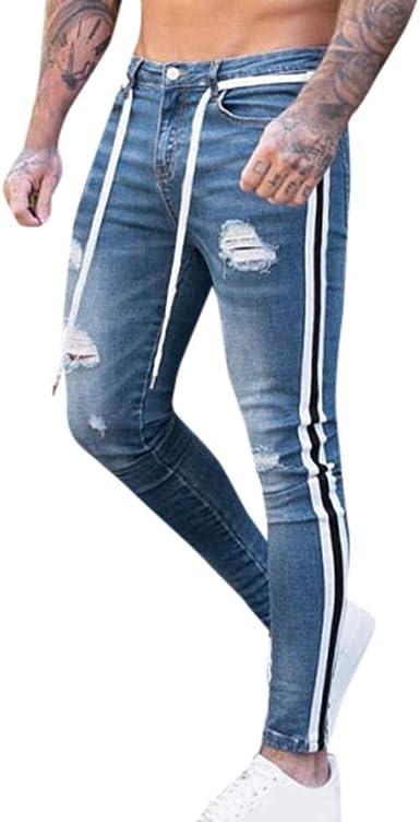 Geilisungren Pantalones Slim Fit Rotos Hombre Pantalones Vaqueros Elasticos Skinny Slim Fit Delgados Pantalones Largos De Mezclilla Casual Moda Para Hombres Pantalones Largos Amazon Es Ropa Y Accesorios