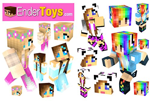 [Popular Girl Skins Sticker Pack by EnderToys] (Ghast Minecraft Costume)