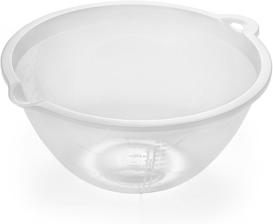 Addis 518005 - Cuenco para mezclar (plástico, 4 L), transparente
